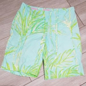 Lilly Pulitzer resort fit tropical mint shorts s 0
